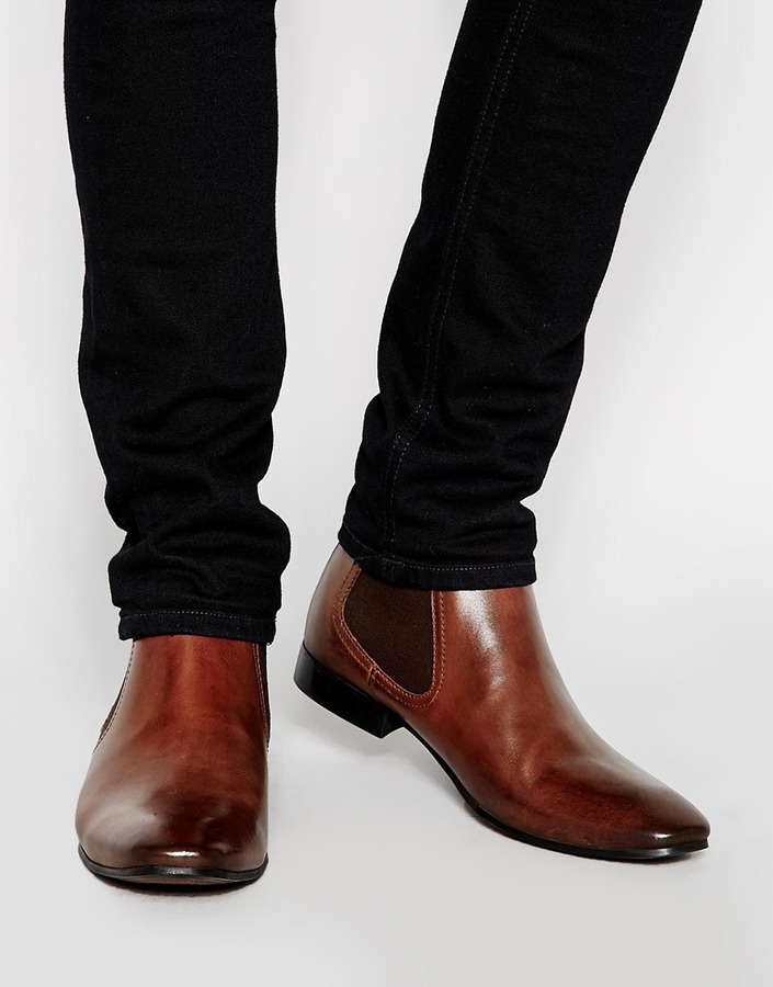 ff3b67f9b319e ... Asos Brand Chelsea Boots In Leather ...