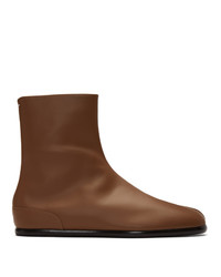 Maison Margiela Brown Flat Tabi Boots
