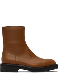 Dries Van Noten Brown Leather Chelsea Boots