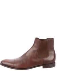 Prada Cap Toe Chelsea Boots