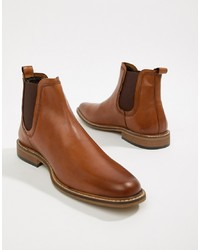 Dune Chelsea Boots In Tan Leather, $77