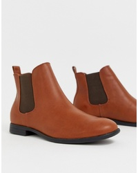 Jack & Jones Chelsea Boots In Tan