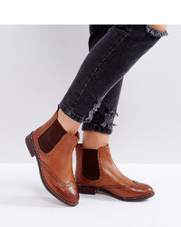 Dune Wide Fit Dune London Wide Fit Quentons Leather Chelsea Flat Ankle Boots