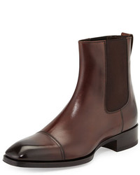 Tom Ford Gianni Leather Chelsea Boot Brown
