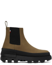 Moncler Khaki Lir Chelsea Boots