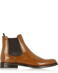 Monmouth glossed leather chelsea boots medium 104156