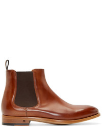 Paul Smith Ps By Brown Leather Contrast Bertram Chelsea Boots