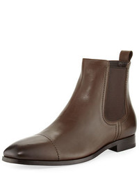 Ermenegildo Zegna Rodrigo Leather Chelsea Boot Brown
