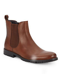 Saks Fifth Avenue Ricardo Leather Chelsea Boots