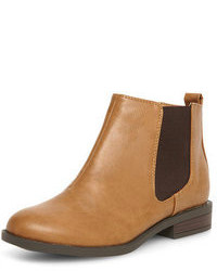 Dorothy Perkins Tan Chelsea Ankle Boots