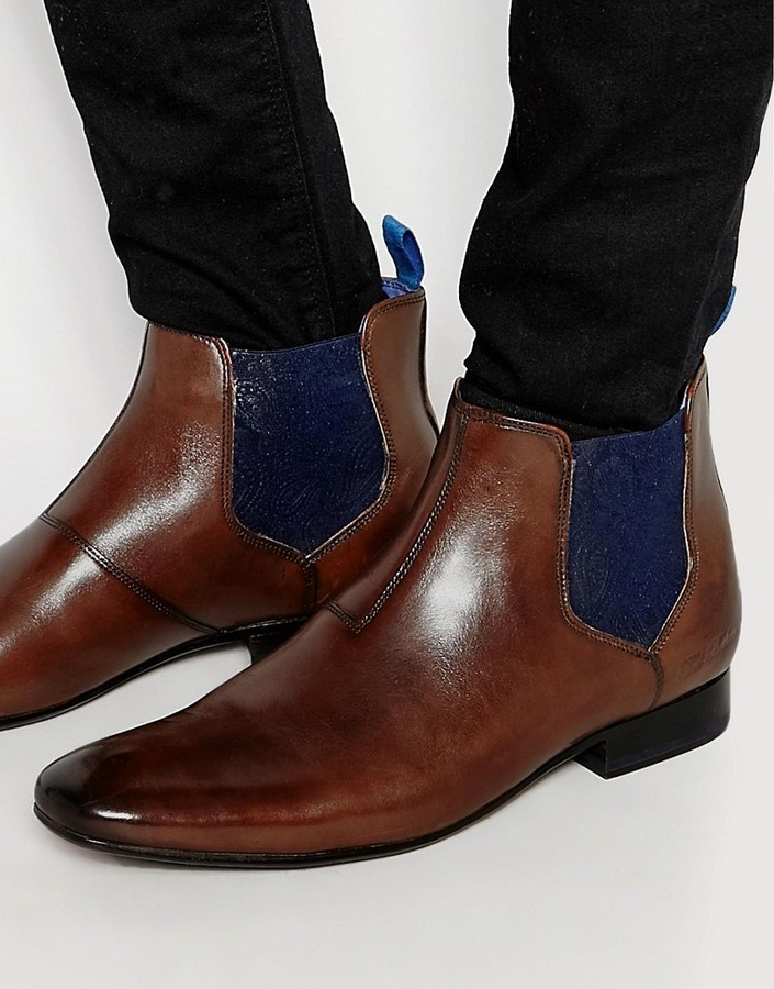 54e6c69a3379e4 Brown Leather Chelsea Boots Ted Baker Ted Baker Hourb Chelsea Boots  official site  BuyTed Baker Deksta Ankle Boots