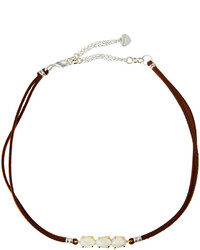 Nakamol Braided Leather Moonstone Choker