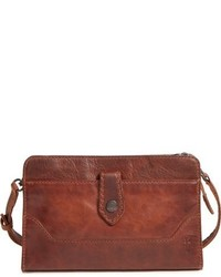 Melissa leather crossbody clutch brown medium 951850