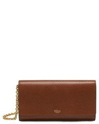 Mulberry Continental Classic Convertible Leather Clutch Brown