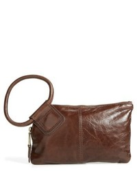 Sable calfskin leather clutch grey medium 5254710