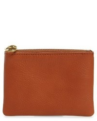 Madewell Small Victory Leather Pouch Brown