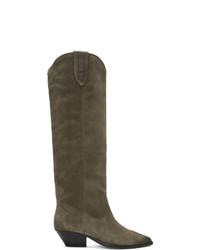 Isabel Marant Taupe Washed Denvee Boots