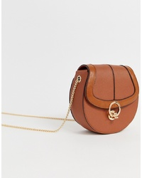 Miss KG Across Body Saddle Bag With Hardware
