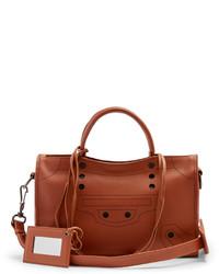 Balenciaga Blackout City Small Leather Cross Body Bag