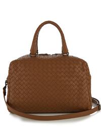 Bottega Veneta Boston Small Intrecciato Leather Cross Body Bag