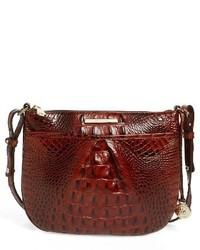Brahmin Melbourne Tara Leather Crossbody Bag Orange