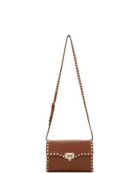 Valentino Brown Garavani Small Flap Bag