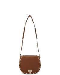Valentino Brown Garavani Small Saddle Bag