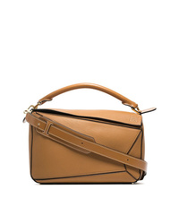 Loewe Brown Puzzle Leather Shoulder Bag