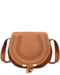 Chloé Chloe Marcie Small Leather Crossbody Bag Tan