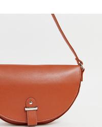 Glamorous Cognac Half Moon Cross Shoulder Bag