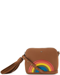 Anya Hindmarch Crossbody Rainbow Bag In Caramel Silk Calf Leather