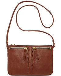 Fossil Erin Leather Small Top Zip Crossbody