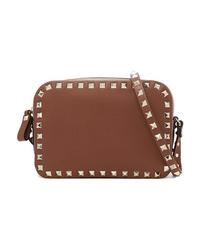 Valentino Garavani The Rockstud Textured Leather Shoulder Bag