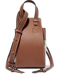 Loewe Hammock Dw Mini Leather And Canvas Shoulder Bag