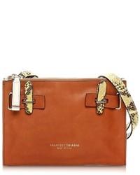 Francesco Biasia Hampstead Color Block Leather Crossbody Bag