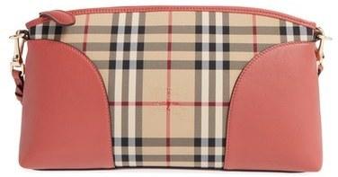 2e241033571e ... Burberry Horseferry Chichester Leather Nylon Crossbody Bag Blue ...