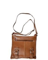 Journee Collection Genuine Leather Messenger Handbag