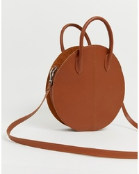ASOS DESIGN Leather Structured Circle Shopper Bag