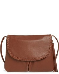 Lore leather crossbody bag brown medium 951812