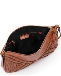 ... Elliott Lucca Medium Mari Braided Leather Crossbody Bag Brown 7fa2f59aae919