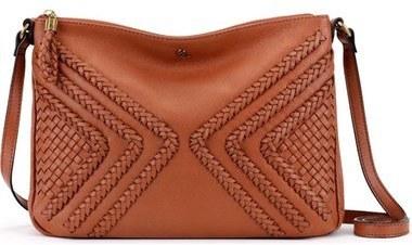 ... Elliott Lucca Medium Mari Braided Leather Crossbody Bag Brown ... 15b9c6064dcfb