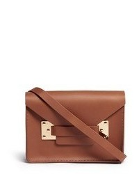 Sophie Hulme Mini Leather Envelope Crossbody Bag
