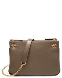 Mulberry Winsley Leather Shoulder Bag Grey