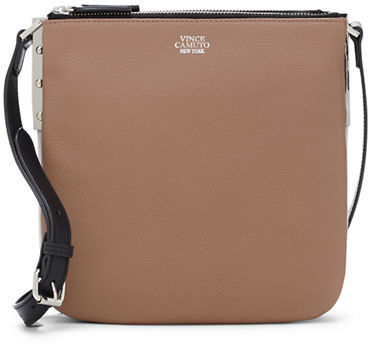 e4b83de9abd8 Neve Leather Small Crossbody Bag. Brown Leather Crossbody Bag by Vince  Camuto