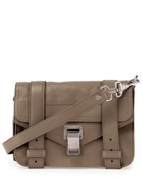 Proenza Schouler Ps1 Mini Leather Crossbody Bag Smoke