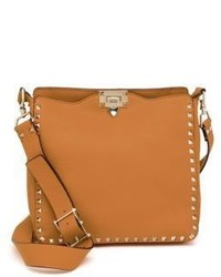 Valentino Rockstud Utilitarian Small Leather Crossbody Bag