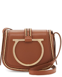 Salvatore Ferragamo Sabine Small Gancio Crossbody Bag Ecorce