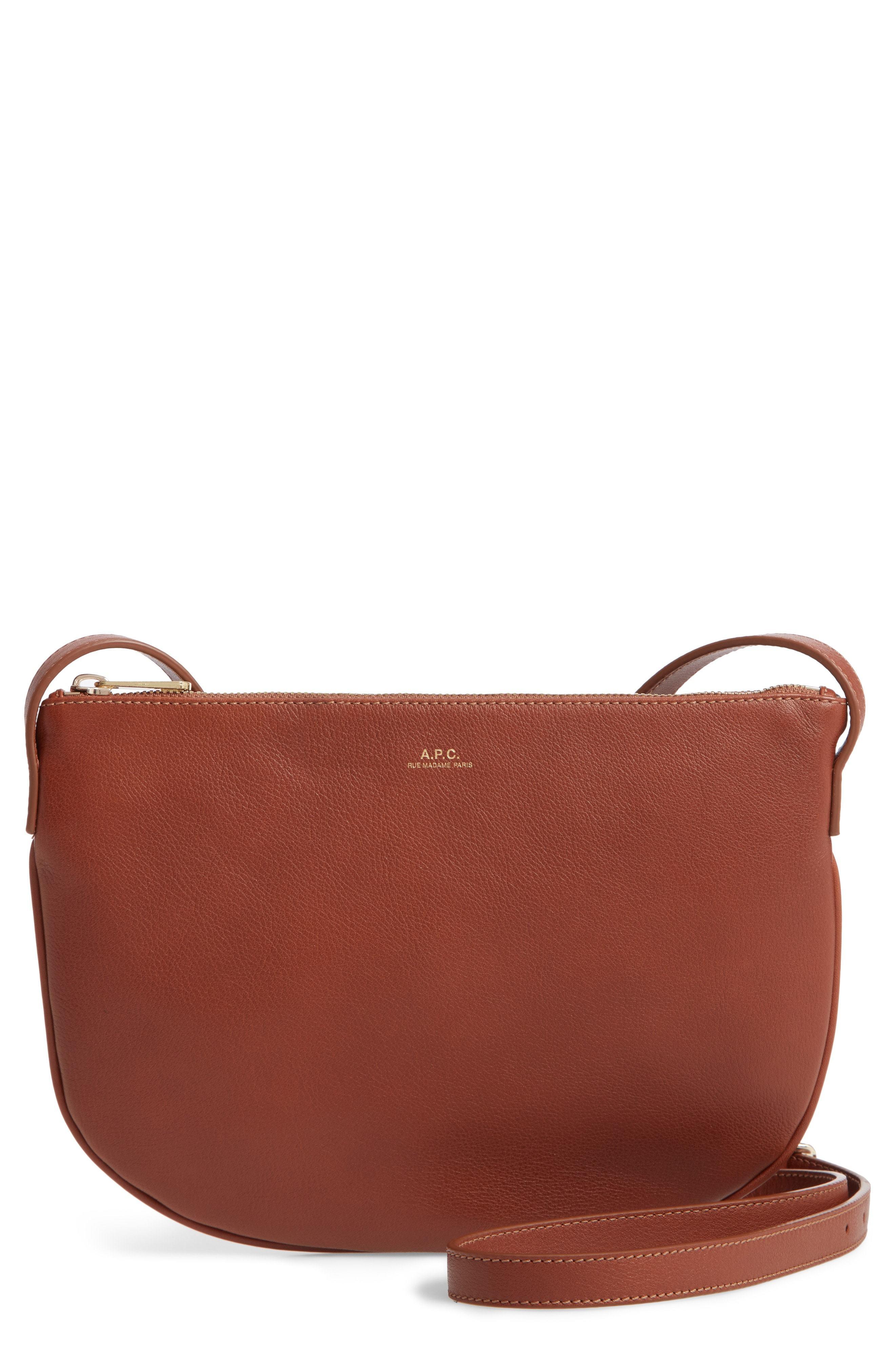 A.P.C. Sac Mlys Leather Crossbody Bag