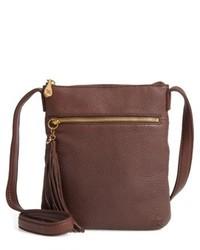 Hobo Sarah Leather Crossbody Bag Purple
