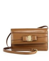Salvatore Ferragamo Signature Scalloped Leather Crossbody